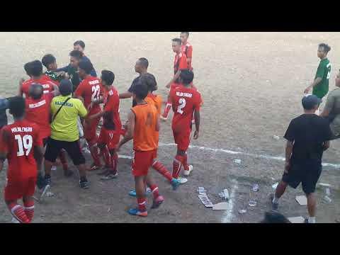 Detik-detik kericuhan Kab. Majalengka vs Kota Cirebon kualifikasi PORDA 2017