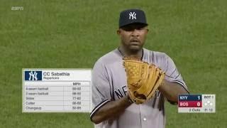 September 18, 2016-New York Yankees vs. Boston Red Sox