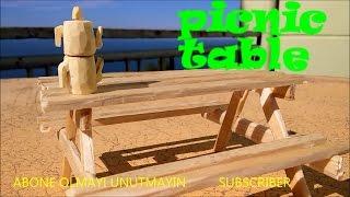 Piknik masası yapma minik - make wooden picnic table