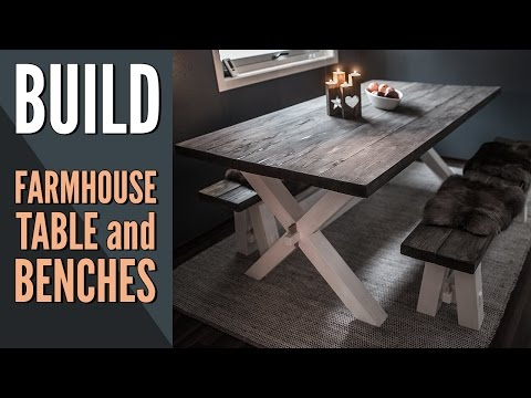 Making a Farmhouse Table and Two Benches