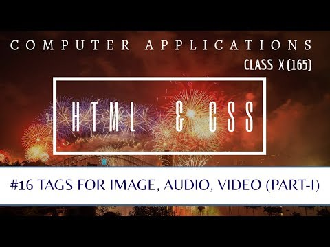 IMAGE, AUDIO, VIDEO Tags (Part-I)   HTML   CLASS X CBSE   COMPUTER APPLICATIONS 165
