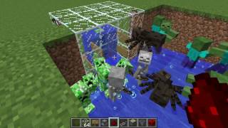 Survival in Minecraft How to Build Mob Farm, Creepers Farm, TNT Farm and Gunpowder Farm
