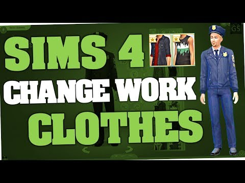 Sims 4 - How to change Work Clothes (Cheat | PC) - YouTube