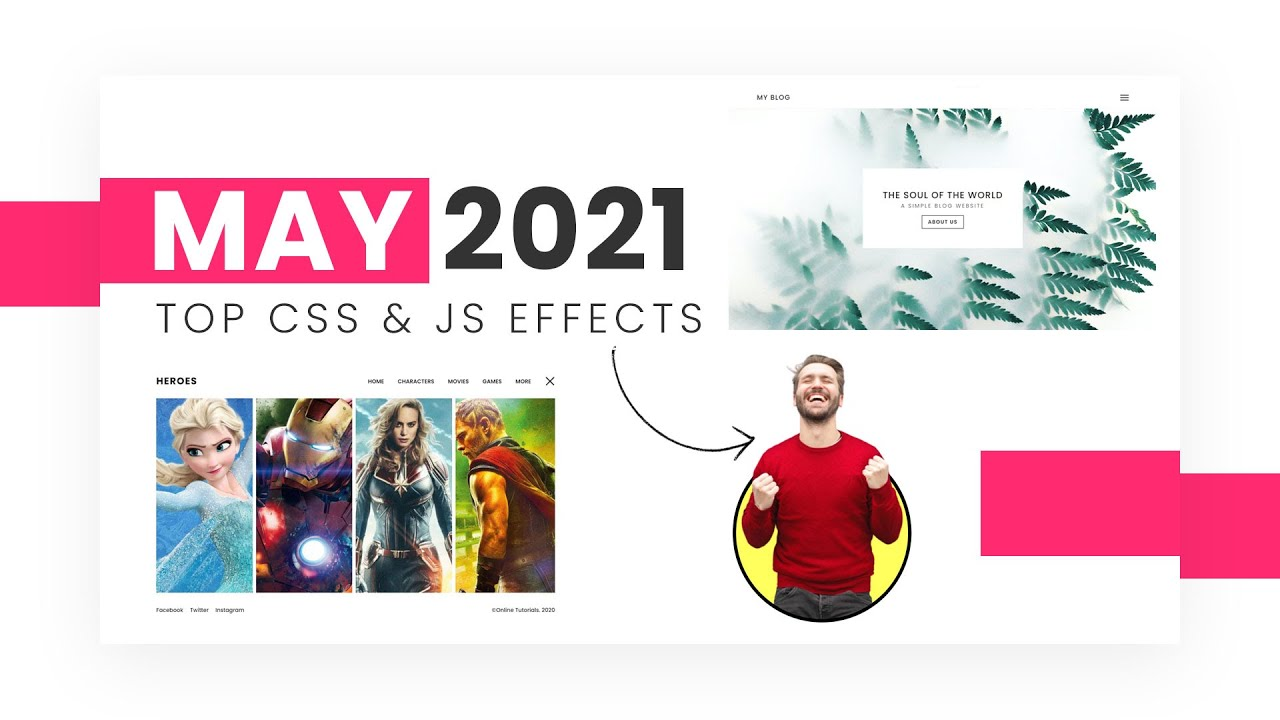 Top CSS & Javascript Animation & Hover Effects