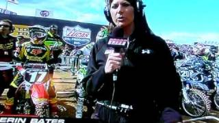 Justin Barcia - see Erin Bates dump rocks in front of starting gate