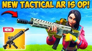 *NEW* TACTICAL ASSAULT RIFLE IS OP!! - Fortnite Funny Fails and WTF Moments! #558