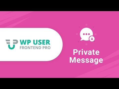 WordPress Private Message Instantly Using -WP User Frontend Pro
