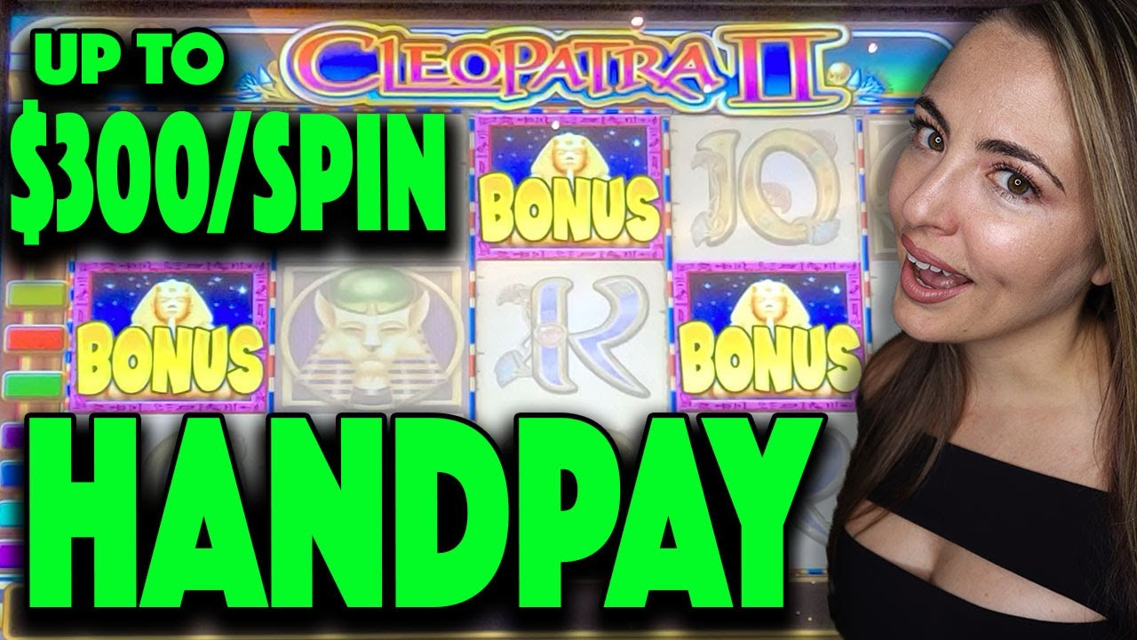Up To $300/SPIN HANDPAY JACKPOT on CLEO 2 Slot Machine!