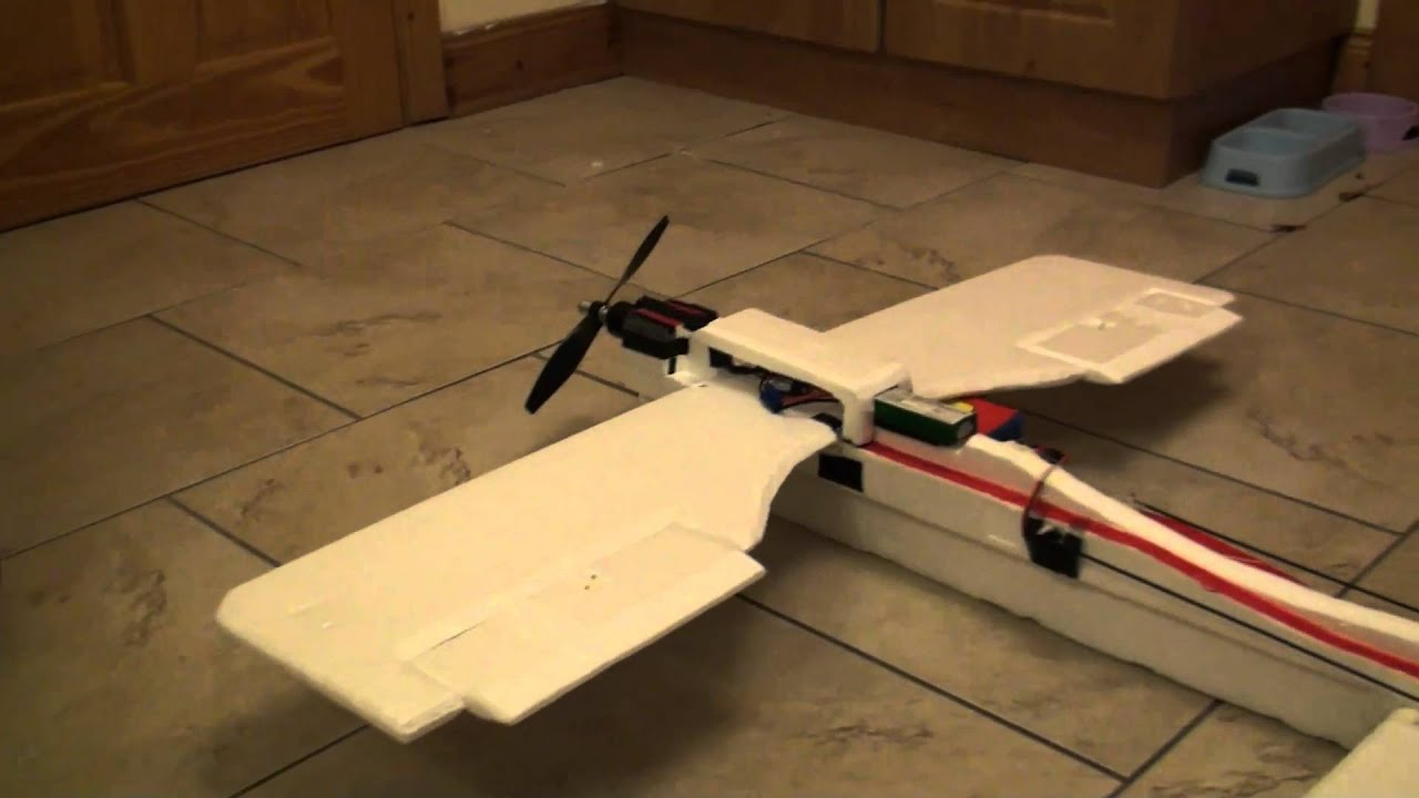 my first homemade rc plane