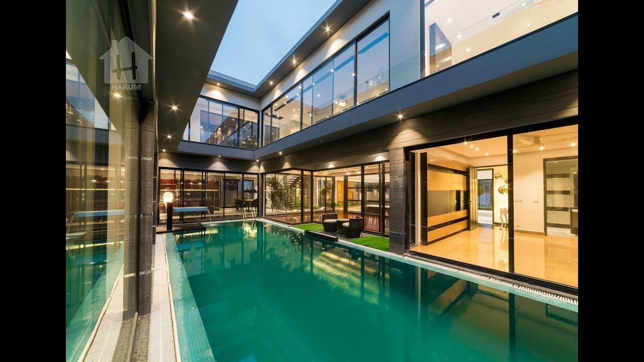 Harum Estate Offers 2 Kanal Brand New Ultra Modern Luxury Bungalow With  Home Theater Swimming Pool