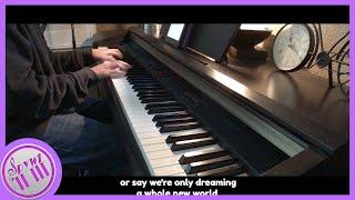 A Whole New World - Aladdin | 【Piano Karaoke Instrumental】