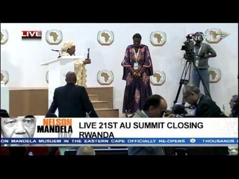 Dlamini-Zuma at the closing of AU Summit in Kigali