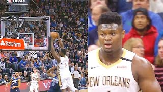 Zion Williamson Shocks Entire Crowd With Lonzo Ball On Back to Back Alley-Oops vs Timberwolves!