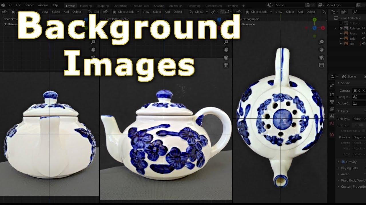 Blender 2.8 - Background Image Setup (Beginners Crash ...