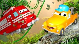 Поезд по имени Трой - Автомойка Эвакуатора Тома в Автомобильный Город 💧 детский мультфильм