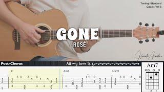 GONE - ROSÉ | Fingerstyle Guitar | TAB + Chords + Lyrics