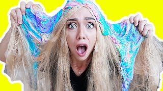 EXTREME SLIME DARES! (GONE WRONG) SLIME ALL OVER MY HAIR! | NICOLE SKYES