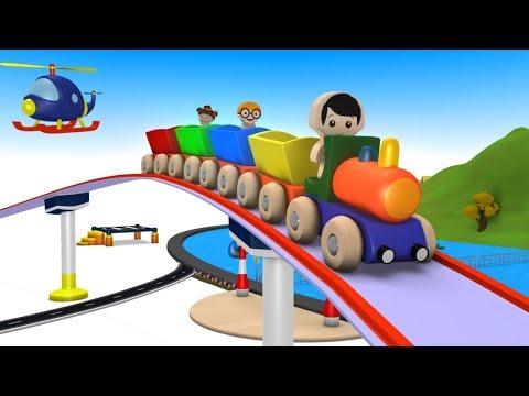 Cartoon Train for kids - Train videos - chu chu train - Toy Factory - Toy Train for children