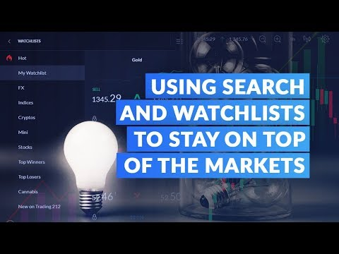 How To Use Search and Watchlists to Stay on Top of the Stock Market