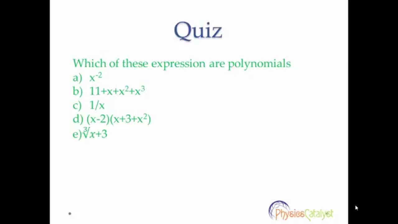 Why are polynomials important?