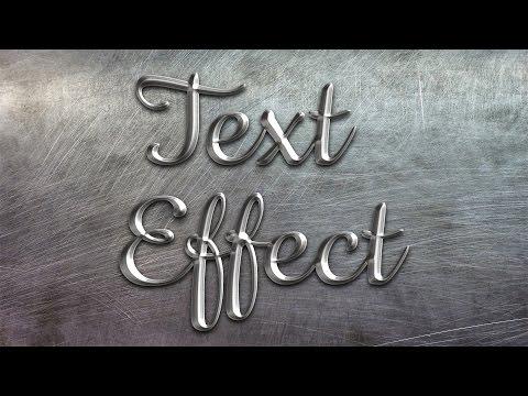 Как создать металлический текст в Photoshop | Metall Text Effects In Photoshop