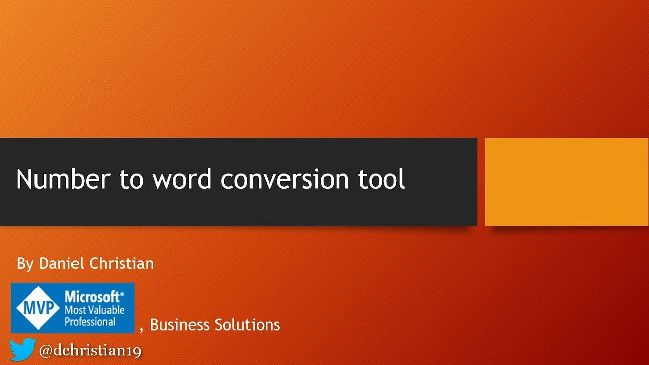 Number to word conversion tool - Power Platform Community