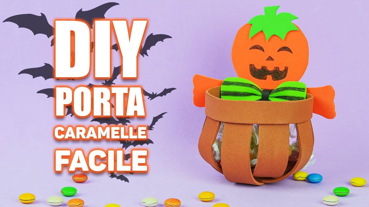 Porta caramelle fai da te per Halloween | Lavoretti per Halloween | DIY with EVA Rubber