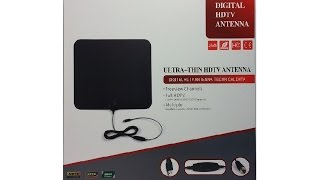 DSBA1 Ultra thin HDTV Antenna with Signal Booster Connectivity Review