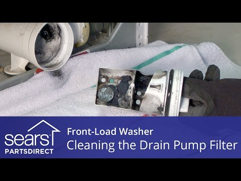 Cleaning The Drain Pump Filter On A Front-Load Washer With No Access Door