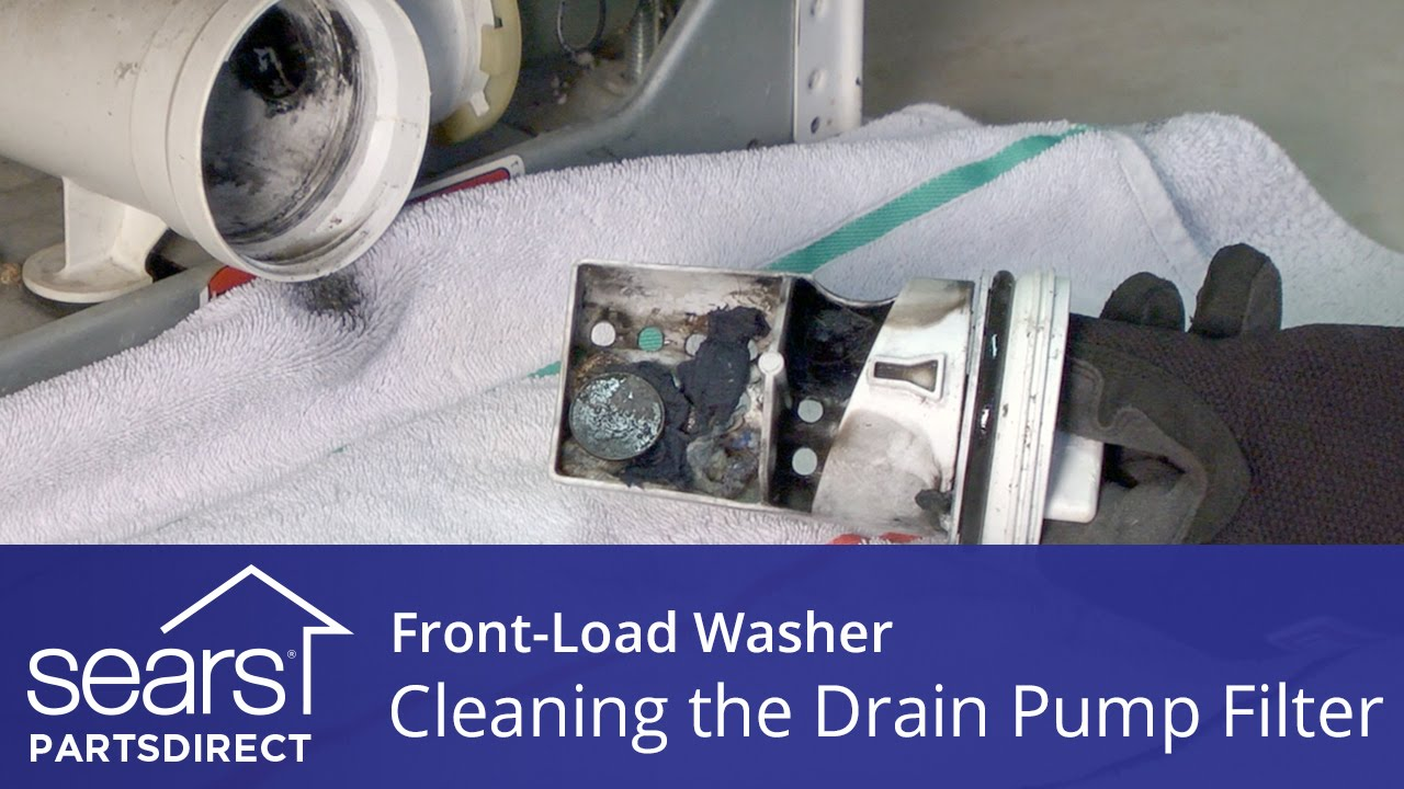 Cleaning The Drain Pump Filter On A Front Load Washer With