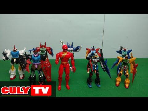 siêu nhân gao đỏ và binh đoàn robot transformer đồ chơi trẻ em sưu tập  - toy for kid