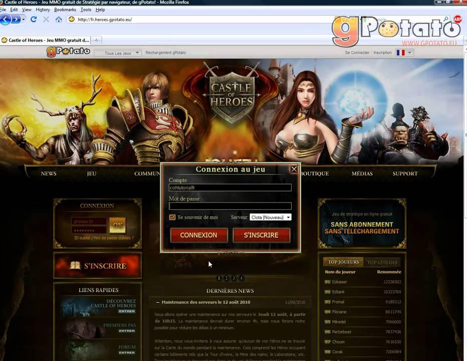 GRATUIT GPOTATO TÉLÉCHARGER MMORPG