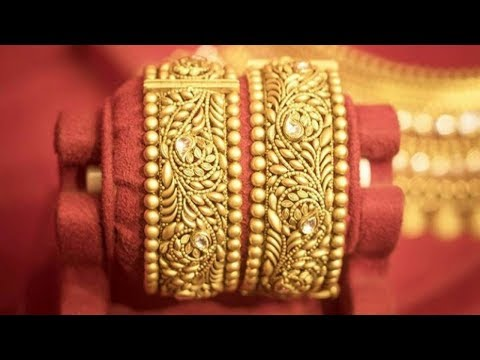 22k Gold Antique Bangle Designs 2018