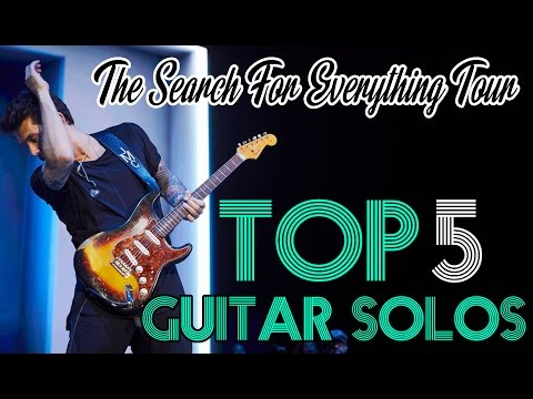 """John Mayer - Top 5 Guitar Solos On The Stage """" The Search For Everything Tour """""""