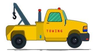 Truk Derek Truk Anak Anak Perbaikan Mobil Tow Truck Cartoons Car Garage Toy Car Video Youtube