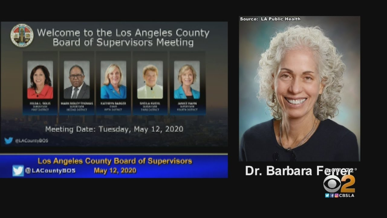 LA County Supervisor Says Health Director Stay-At-Home Remark ...