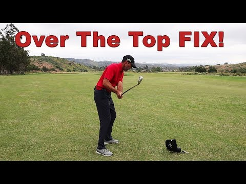 How To Fix Coming Over The Top in Your Golf Swing!