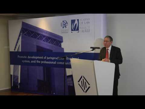 DIFC Academy of Law Lecture 3 of 2016