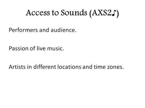 Access to Sounds   Project
