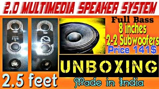Gambar cover UNBOXING 2.0 Multimedia Speaker System Made in India price 141$ Chauhan Tech Boy