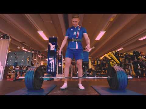 Birkir Bjarnason Deadlifting 210kg