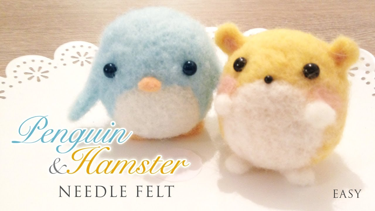 How to Needlefelt Penguin  HamsterKawaii ASMR Craft Tutorial