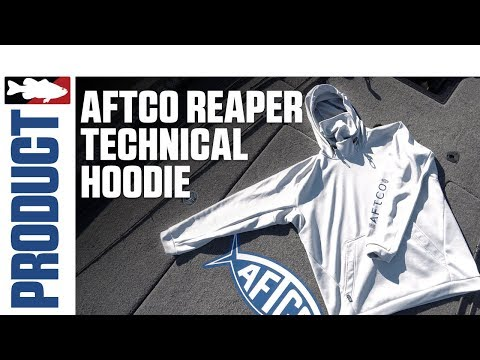 Aftco Reaper Technical Hoodie With Jared Lintner On Clear Lake
