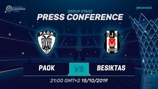 PAOK v Besiktas Sompo Sigorta - Press Conference - Basketball Champions League 2019-20