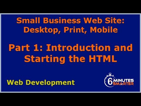 Small Cafe Site: Part 1 - Introduction And Starting The HTML