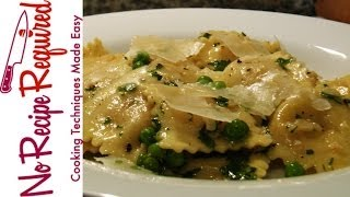 Mother's Day Simple Ravioli & Peas - Noreciperequired.com
