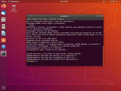 Установка сервера FTP на Linux Ubuntu и публикация FTP-сайта