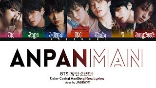 Gambar cover BTS (방탄소년단) - ANPANMAN (Color Coded Lyrics Eng/Rom/Han)