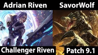 [ [ Adrian Riven ] Riven vs Renekton [ SavorWolf ] Top - Adrian Riven Challenger soloq ]