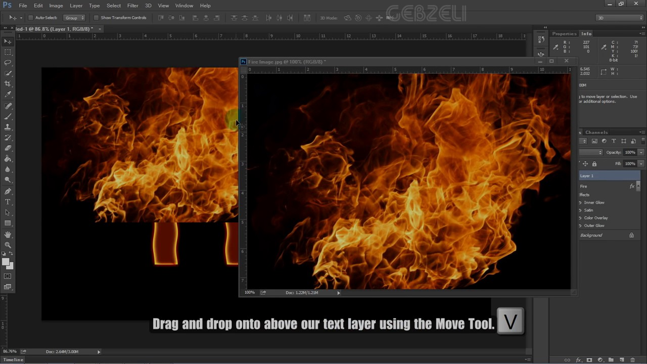 Create Fire Text Effect Photoshop – Fondos de Pantalla